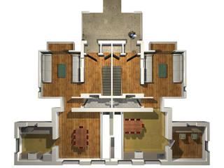 Planta tipo: Casas de estilo  por Altiplano Arquitectura