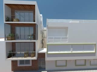 RENDER FACHADA PRINCIPAL. SAN ANDRÉS CHOLULA, PUEBLA.: Casas de estilo moderno por FORMAS ARQUITECTURA