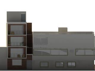 RENDER DE FACHADA PRINCIPAL.: Casas de estilo moderno por FORMAS ARQUITECTURA