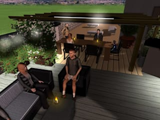 Vivai Toffoli Balkon, Beranda & Teras Modern