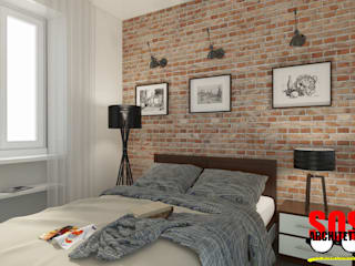 Industrial style bedroom by homify Industrial Bricks