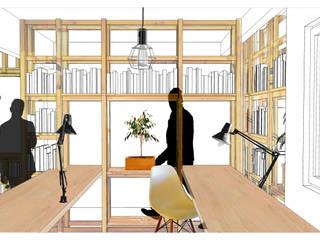 Plataforma Arquitectura Oficinas y bibliotecas de estilo moderno de Taller Independiente - Arquitectura & Diseño Moderno