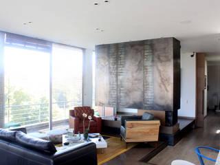 Remodelación Apartamento Echeverry Salas de estilo industrial de Contrafuerte Industrial
