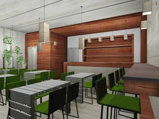 GREEN BAR: Bar & Club in stile  di I-TAO architecture 'n design