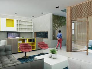 Casa Caracolí Salas modernas de Contrafuerte Moderno