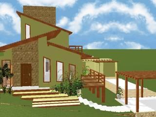 Residencia Lagoa: Casas  por CAV Arquitetura & Interiores