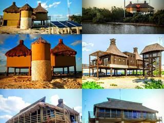 CASA DE PLAYA EN SANTA CLARA, YUCATAN Maya Arquitectura Construccion Casas tropicales Concreto reforzado Beige