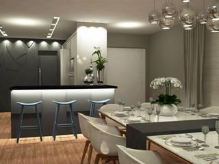 Residência I J+R Treez Arquitetura+Engenharia Cozinhas modernas MDF Bege