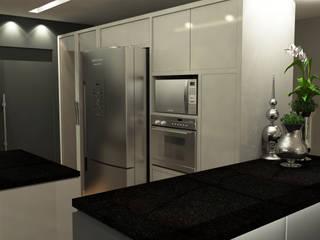 Residência I J+R Treez Arquitetura+Engenharia Cozinhas modernas Mármore Bege