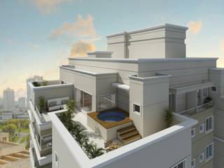RESIDENCIAL VALE D´AUGUSTA Casas modernas por Eustáquio Leite Arquitetura Moderno
