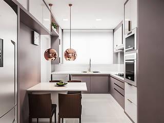 Kitchen by Flávia Kloss Arquitetura de Interiores