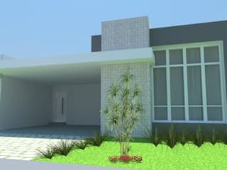 Residencia Condomínio Sunlake: Casas  por Arquitetura e Designer Giovana Matielli
