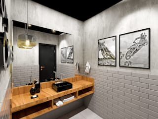 Banheiro Estudio Motocross: Banheiros  por Patricia Moreno A R Q U I T E T U R A