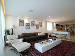 Sala de Estar e Jantar Salas de estar modernas por Camila Araújo Arquitetura e Interiores Moderno
