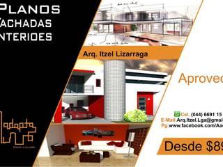 arquitecto ingeniero planos:  de estilo  por ADAPTA arquitecto ingeniero