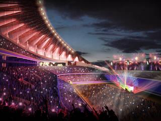 Proyecto para el nuevo Estadio Azul: Casas de estilo  por Kontrast Arquitectos