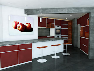 Aguascalientes 41: Cocinas de estilo  por Kontrast Arquitectos