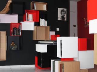 Appartement rénové à Lyon avec meuble sur mesure et jeux de peinture:  de style  par Koya Architecture Intérieure, Moderne