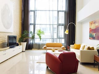 Art Loft-藝術典藏別墅 现代客厅設計點子、靈感 & 圖片 根據 果仁室內裝修設計有限公司 現代風