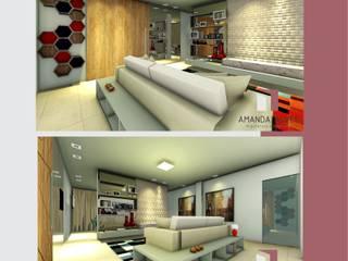 Projeto Interiores:   por Amanda Alves Arquitetura e Interiores,Moderno