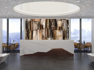 Edificios de oficinas de estilo minimalista de TARKAN OKTAY MİMARLIK Minimalista