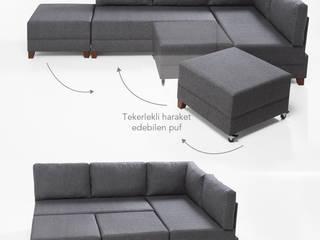 K105 Mobilya Pazarlama Danışmanlık San.İç ve Dış Tic.LTD.ŞTİ. Salas/RecibidoresSofás y sillones Madera Gris