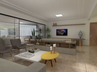 Salas / recibidores de estilo  por Arquitetura do Barreto, Moderno