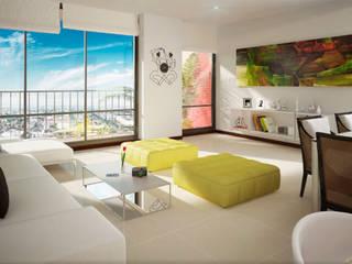 Salones de estilo moderno de MC Arquitectos Moderno