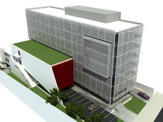 Sede CREA - PR: Edifícios comerciais  por Promenade Arquitetura
