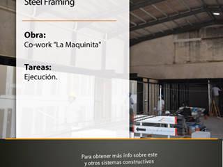 """Obra: Co-work """"La Maquinita"""", Rosario Estudios y oficinas modernos de Grupo Madero Moderno"""
