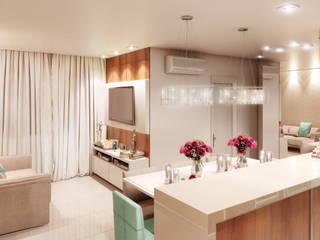 Salle multimédia moderne par Karinna Buchalla Interiores Moderne