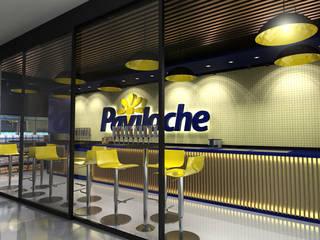 Paviloche Sorvetes: Lojas e imóveis comerciais  por Promenade Arquitetura