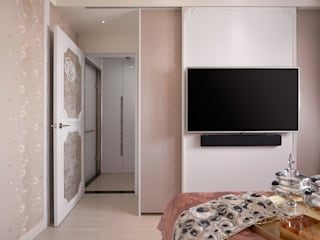 電視壁掛門片(閤) 趙玲室內設計 Classic style bedroom