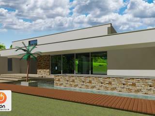 CASA DE UN COMPADRE ION arquitectura SAS Casas de estilo minimalista