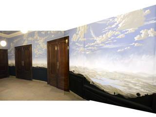 Antesala del cielo Pasillos, vestíbulos y escaleras de estilo clásico de Jorge Fin. Murals Clásico