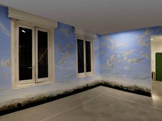 Mural Efímero Paredes y suelos de estilo clásico de Jorge Fin. Murals Clásico