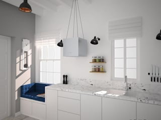 OES architekci Modern kitchen White