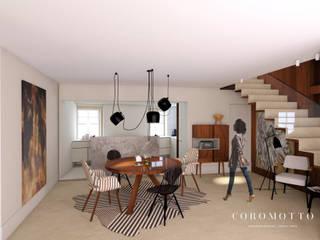 Salas de Estar e de Jantar Salas de jantar ecléticas por Coromotto Interior Design Eclético