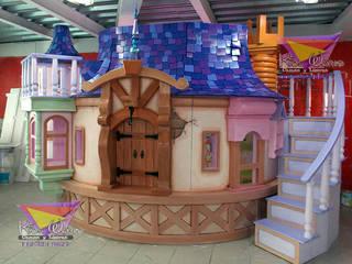 Impactante torre de Rapunzel: Habitaciones infantiles de estilo  por camas y literas infantiles kids world