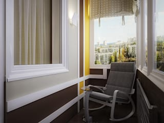 Инна Михайская Balcone, Veranda & Terrazza in stile moderno