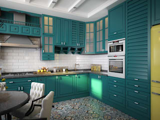 Инна Михайская Eclectic style kitchen Turquoise