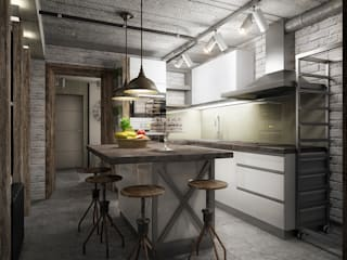 Industrial style kitchen by Инна Михайская Industrial
