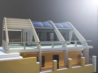 Casa in Legno Balcone, Veranda & Terrazza in stile moderno di ibedi laboratorio di architettura Moderno