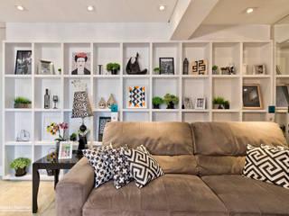 Apartamento LT: Salas de estar  por Daniela Morales Arquitetura,Moderno