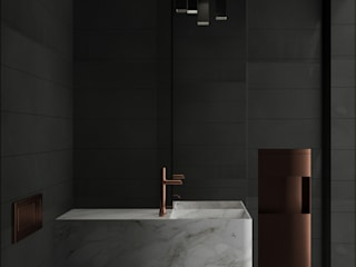 Modern bathroom by fatih beserek Modern
