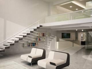 PROYECTO CASA VITRO: Salas de estilo moderno por mova