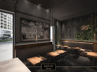 Beef&Jack - lokal na Wilanowie: styl , w kategorii  zaprojektowany przez MAAI Design