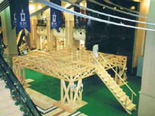 立体トラスの床組 の 木造トラス研究所・株式会社 合掌 オリジナル