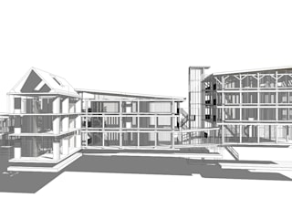 Hotel Amsterdam - Centrum Moderne hotels van Hugo Caron Architecten bna Modern