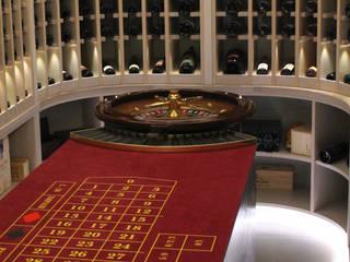 Weinkeller mit Roulettetisch aus Belvedere:   von Fetz Quadrat OHG